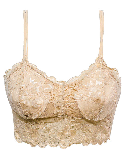 Skin Embroidered Sexy Lace Cotton Bra