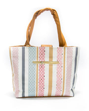 Beige Ladies Handbags SS Fashion Stripes Design - HB1018 - Shoulder Bags & Purse for Ladies
