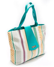 Firozi Ladies Handbags SS Fashion Stripes Design - HB1020 - Shoulder Bags & Purse for Ladies