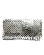 Fancy Silver Hand Purse For Ladies Fashion Boutique HP1050