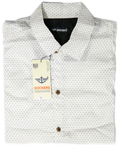 Black Dotted Shirt for Men - Dockers Men's Dress Shirts