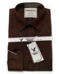 American Eagle Mens Formal Shirt - SA1006 - Mens Self Striped Cotton Shirts