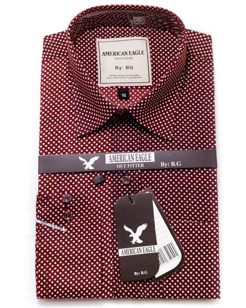 Buy American Eagle Mens Formal Shirt - Mens Polka Dotted Cotton Shirts Online in Karachi, Lahore, Islamabad, Pakistan, Rs.{{amount_no_decimals}}, Mens Shirts Online Shopping in Pakistan, American Eagle, Body Fit Shirts, branded, Branded Shirts, Casual Shirts, cf-size-15, cf-size-15-1-2, cf-type-mens-shirts, cf-vendor-american-eagle, Classic Collar Shirts, Clothing, Dress Shirts, Eid Collection Shirts, Export Stocklot, Full Sleeves Shirts, Men, Men Party Shirts, Mens Western Clothing, Polo Cotton Shirts, Shirts, Slim Fit Shirts, Spring Shirts, Standard Collar Shirts, Summer Shirts, Online Shopping in Pakistan - diKHAWA Fashion