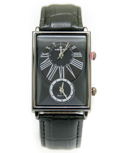 Xenlex Mens Watches with Black Belt & Black Square Dial Watches