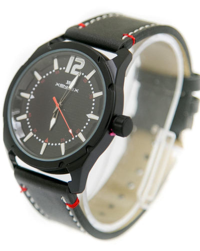Mens Sport Watches with Black Belt & Black Dial Watches by Xenlex