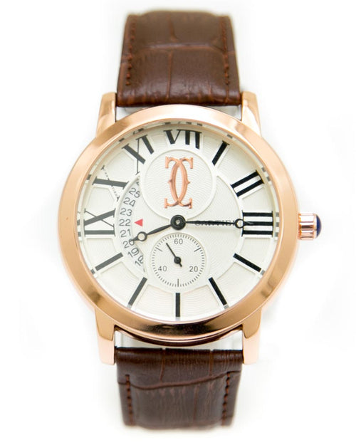 Cartier Mens Watches with Brown Belt & Round Dial Watches