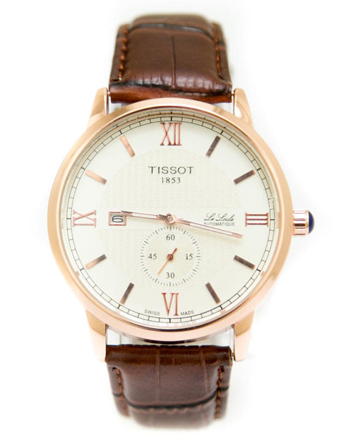 Tissot Mens Watches with Brown Belt & Golden Round Dial Watches