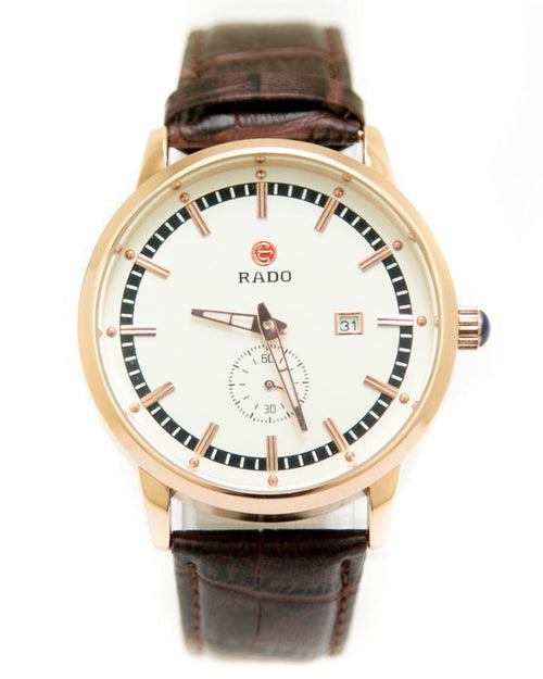 Rado Mens Watches with Brown Belt & Golden Round Dial Watches
