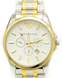 Buy Armani Gold & Silver Watches For Men's With Round Dial Online in Karachi, Lahore, Islamabad, Pakistan, Rs.{{amount_no_decimals}}, Mens Watches Online Shopping in Pakistan, Armani, Accessories, cf-type-mens-watches, cf-vendor-armani, Men, Watches, Online Shopping in Pakistan - diKHAWA Fashion