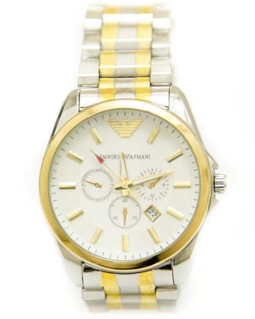 Armani Gold & Silver Watches For Men's With Round Dial