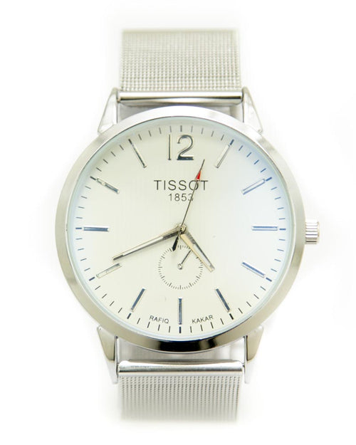 Tissot Mens Watches with Silver Chain & Silver Round Dial Watches