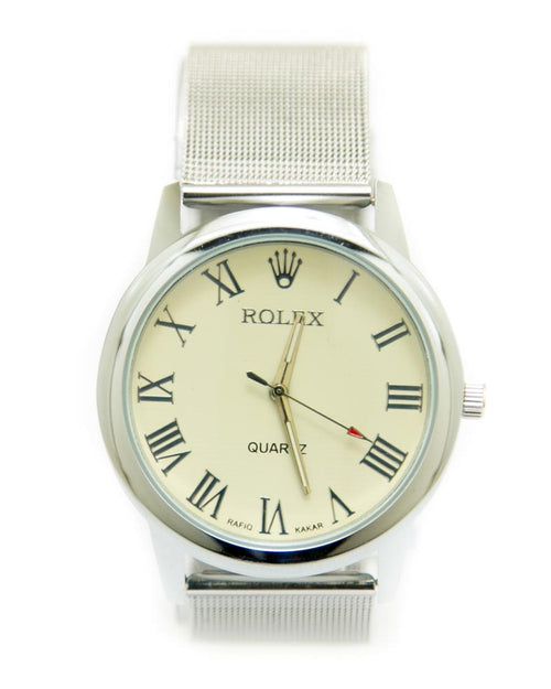 Rolex Mens Watches with Silver Chain & Silver Round Dial Watches