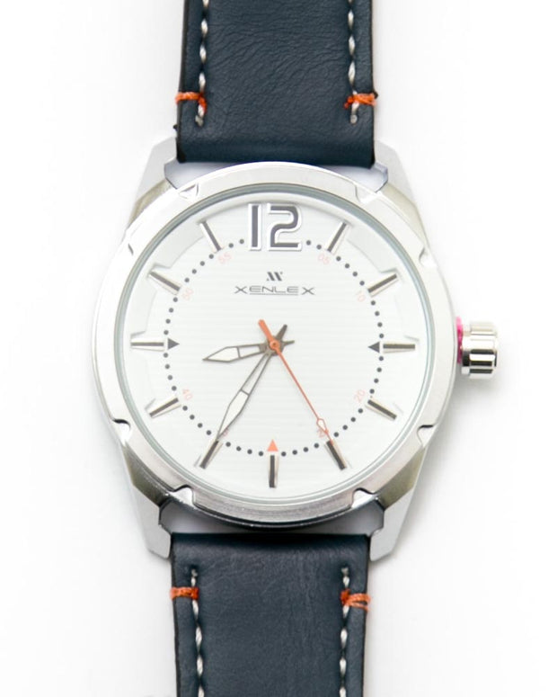 Mens Sports Watches with Blue Belt & White Dial Watches by Xenlex