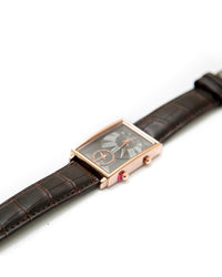 Xenlex Mens Watches with Black Belt & Gold & Black Square Dial Watches