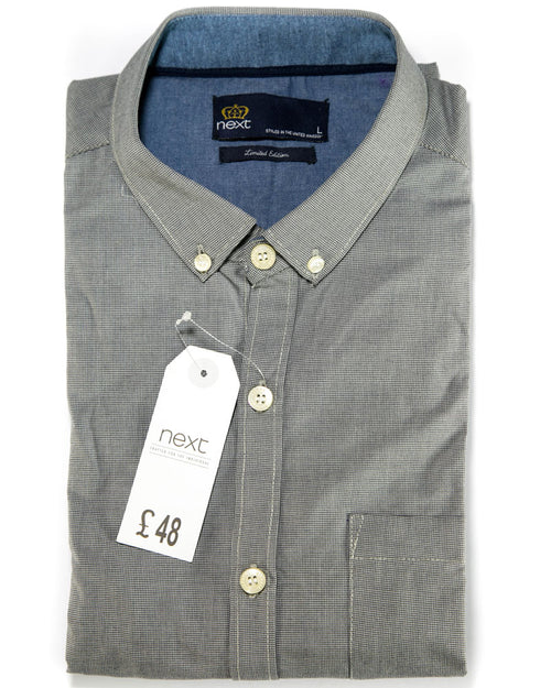 Buy Men Casual Dress Shirts By Next Online in Karachi, Lahore, Islamabad, Pakistan, Rs.{{amount_no_decimals}}, Mens Shirts Online Shopping in Pakistan, Next, Body Fit Shirts, branded, Branded Shirts, Casual Shirts, Classic Collar Shirts, Clothing, Color = Black & White, Dress Shirts, Eid Collection Shirts, Export Stocklot, Full Sleeves Shirts, Men, Men Party Shirts, Plain Shirts, Polo Cotton Shirts, Shirts, Size = Large, Size = Medium, Slim Fit Shirts, Spring Shirts, Standard Collar Shirts, Summer Shirts, Online Shopping in Pakistan - diKHAWA Fashion