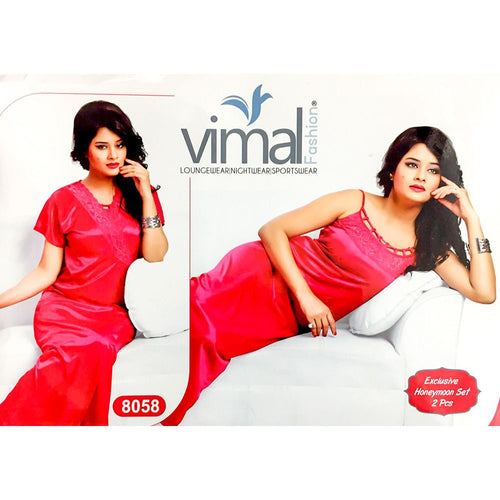 Buy 2 Pcs Wedding Red Long Nighty Set with Gown - V8058 - Satin Silk Nighty by Vimal Fashion Online in Karachi, Lahore, Islamabad, Pakistan, Rs.1800.00, Nighty Sets Online Shopping in Pakistan, Vimal Fashion, best Nightwear Brands in pakistan, best Nighty Brands in pakistan, Branded Nightwear, branded nighty, Bridal Nighty, cf-type-nighty-sets, cf-vendor-vimal-fashion, Honeymoon Nighty, imported nighty, Ladies Nightwear, ladies Nightwear pakistan, Ladies Nighty, ladies undergarment pakistan, long nighty, Nightwear Online Shopping, Nightwear online shopping in pakistan, Nightwear pakistan, Nightwear shop, Nightwear.com, Nightwear.com.pk, Nightwear.pk, nighty online shopping, Nighty Online Shopping in Pakistan, nighty pakistan, nighty shop, Nighty.com, Nighty.com.pk, Nighty.pk, Satin Nighty, silk nighty, top ladies Nightwear Brands, top ladies Nighty Brands, top Nightwear, top Nighty, wedding nighty, woo_import_2, www Nightwear com, www Nightwear pk, www Nighty com, www Nighty pk, diKHAWA Online Shopping in Pakistan