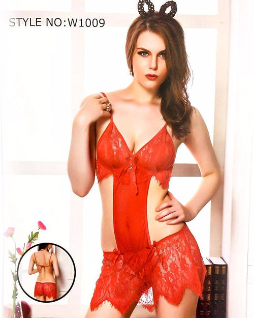 Sexy Bridal Red Lingerie W1009 - Wedding Lingerie - Lingerie - diKHAWA Online Shopping in Pakistan