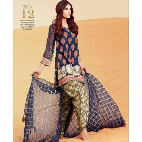 Charizma Lawn Embroidered Suit