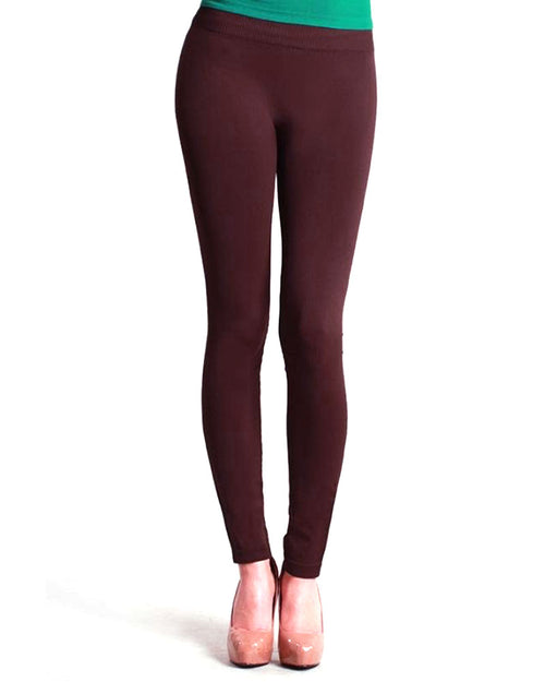 Sexy Stretchable Maroon Tights & Leggings - Fashion Tights Full Legging