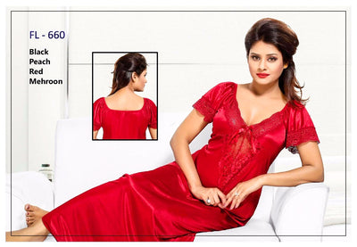 Stylish FL-660 - Flourish Exclusive Bridal Nighty Set Collection