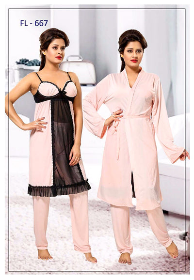 Stylish FL-667 - Flourish Exclusive Bridal Nighty Set Collection