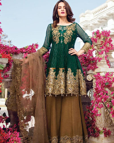 Imrozia Heaviest Embroidered Chiffon Collection (Replica)(Unstitched)