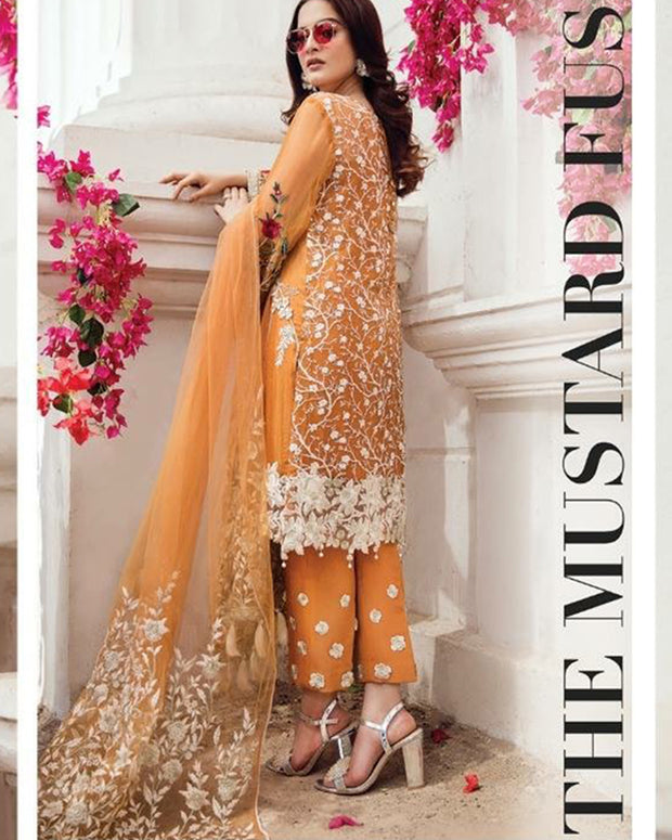 Imrozia Chiffon Collection With Net Dupatta 427 (Replica)(Unstitched)