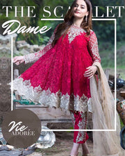 IMROZIA PREMIUM EMBROIDERY CHIFFON COLLECTION - IBZ:004 (Replica)(Unstitched)