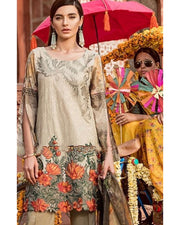 Iznik Lawn With Broshia Dupatta (Replica)(Unstitched)