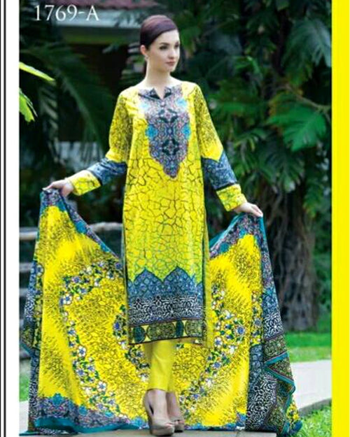 Jhalak Lawn Suits 3 Piece - 1769-A (Original) (Unstitched)
