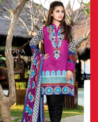 Jhalak Lawn Suits 3 Piece - 1770-A (Original) (Unstitched)