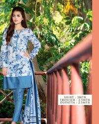 Jhalak Lawn Suits 3 Piece - 1774-C (Original) (Unstitched)