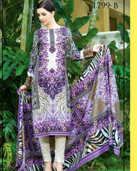 Jhalak Lawn Suits 3 Piece - 1799-B (Original) (Unstitched)