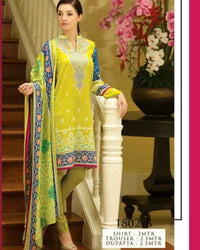 Jhalak Lawn Suits 3 Piece - 1802-B (Original) (Unstitched)