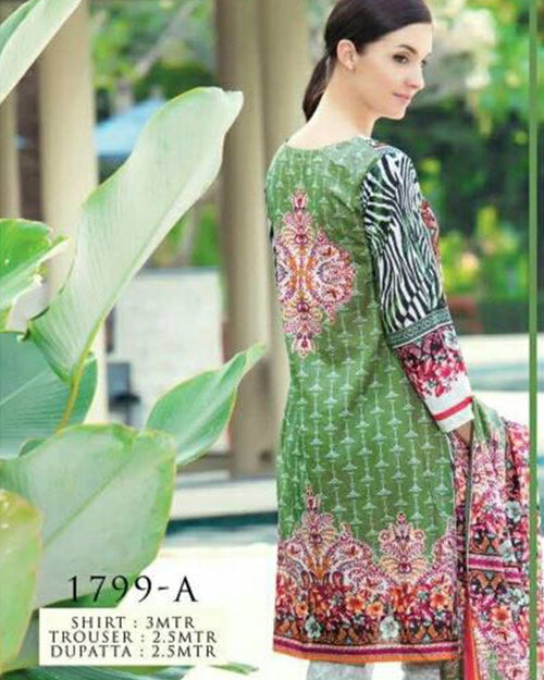 Jhalak Lawn Suits 3 Piece - 1799-A (Original) (Unstitched)