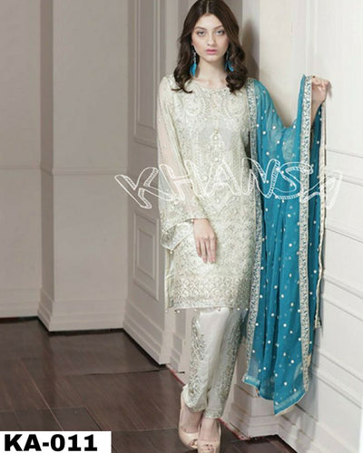 Khansa Arts Chiffon Collection (Replica)(Unstitched)