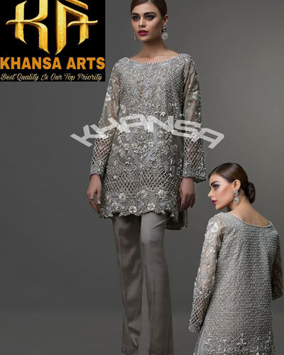 KHANSA ART ORGANZA EID COLLECTION WITH NET DUPATTA - KA-016 (Replica)(Unstitched)