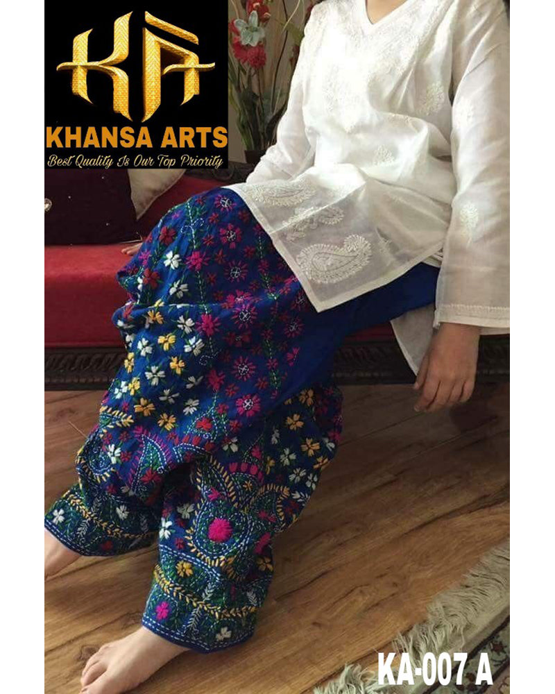 Khansa Arts Cotton Collection With Embroidered Chiffon Dupatta KA-007 A (Replica)(Unstitched)