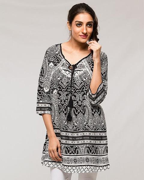 Indian Tradition Designed Lawn Kurti - for Office Girls - Stitch Kurti - Kurti - diKHAWA Online Shopping in Pakistan