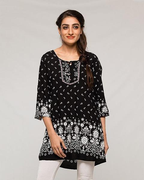 Newest Designed Printed Lawn Kurti -  for Women - Stitch Kurti