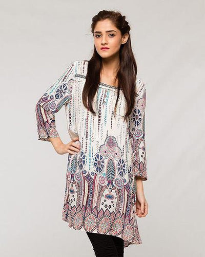Indian Tradition Designed Lawn Kurti - for Women - Stitch Kurti - Kurti - diKHAWA Online Shopping in Pakistan