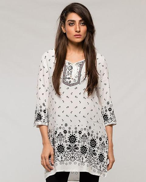 Fashionable Designed Lawn Kurti - for Women - Stitch Kurti - Kurti - diKHAWA Online Shopping in Pakistan