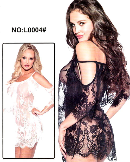 Buy Bridal Sexy Transparent Short Lace Nighty - L0004 Online in Karachi, Lahore, Islamabad, Pakistan, Rs.900.00, Nighty Online Shopping in Pakistan, Fung of Hang Fashion, Clothing, Fashion, Nighty, Short Nighty, Women, diKHAWA Online Shopping in Pakistan