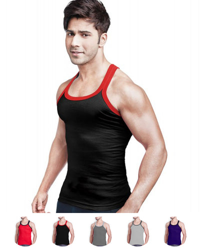 LUX - GenX Gym Vest - 5501 - Mens Sleeveless Gym Vest - Black