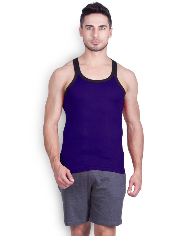 LUX - GenX Gym Vest - 5501 - Mens Sleeveless Gym Vest - Navy Blue