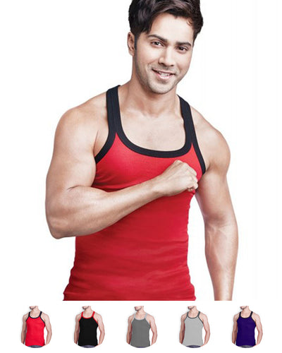 LUX - GenX Gym Vest - 5501 - Mens Sleeveless Gym Vest - Red