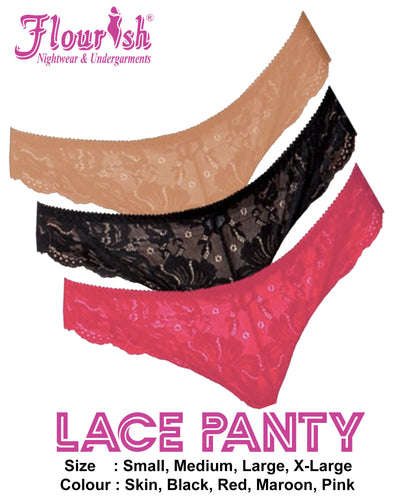 Lace Panty - Flourish Panty - Net See Through Panty