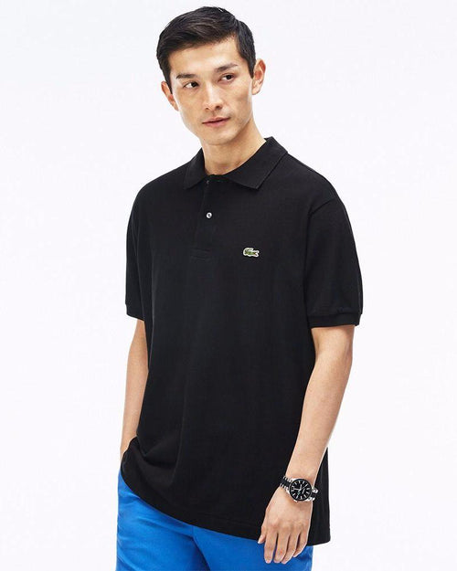 Lacoste Mens Polo T-Shirt - Black - Polo T-Shirts - diKHAWA Online Shopping in Pakistan