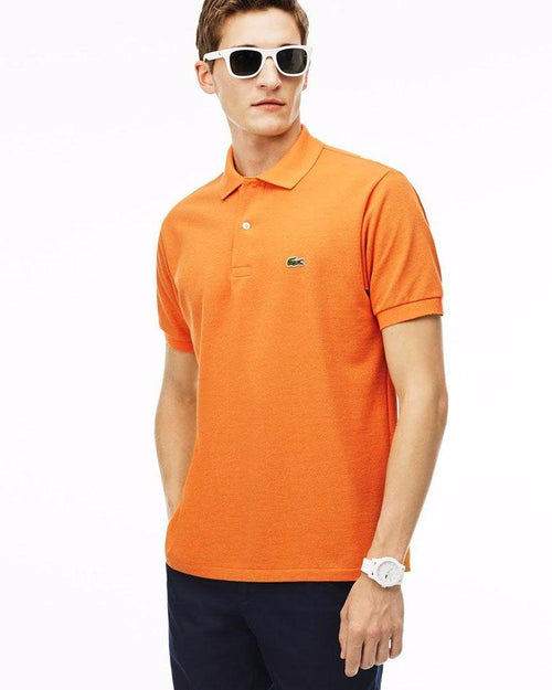 Lacoste Mens Polo T-Shirt - Orange - Polo T-Shirts - diKHAWA Online Shopping in Pakistan