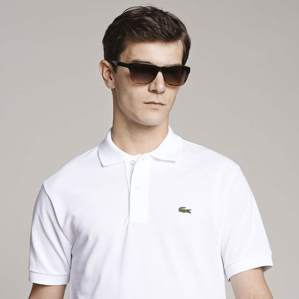 Lacoste Mens Polo T-Shirt - White - Polo T-Shirts - diKHAWA Online Shopping in Pakistan